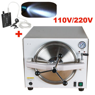 Dental Medical Autoclave Steam Sterilizer Equipment 121 0.12mpa Head Light