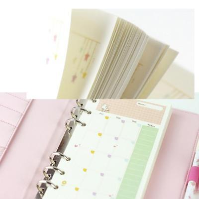 Loose Leaf Ring Binder Notebook Refill Planner Inner Page 45 Sheet A5 A6 G6q9
