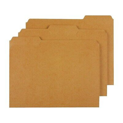 Staples Colored Top-tab File Folders 3 Tab Kraft Letter Size 100pack 509315