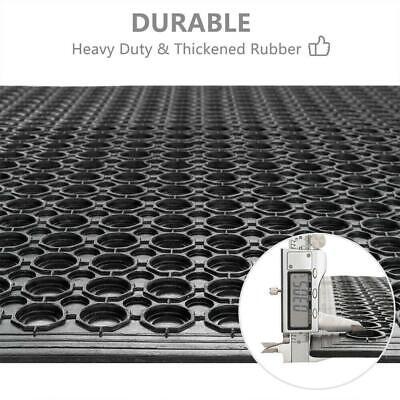 """36"""" x 60"""" Heavy-Duty Black Commercial  Anti-Fatigue Floor Mat Outdoor / Indoor"""