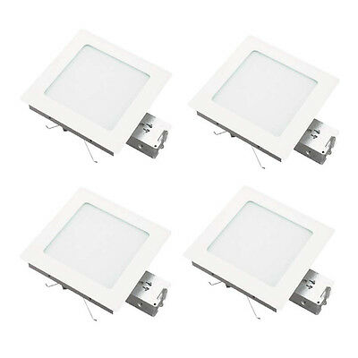 Glass Recessed Housing Trim - Recessed White Non IC Square Housing And Trim With Flat Glass 4 Pack