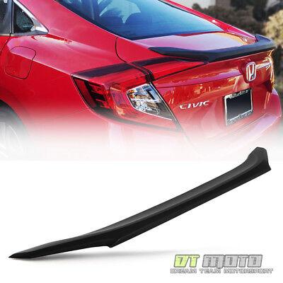 For Black 2016-2017 Honda Civic 4Dr Sedan Factory Style Rear Flush Mount Spoiler