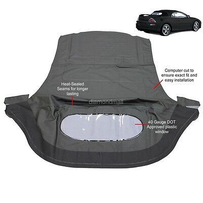 Mitsubishi Eclipse Spyder Convertible Top   Plastic Window 00 05 Black Sailcloth