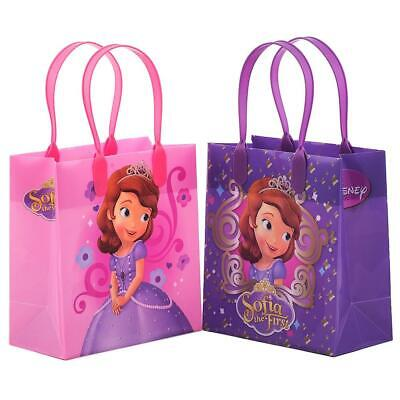 12 PC Disney Princess Sofia The First Goodie Party Favor Gift Birthday Loot Bags (Sofia The First Favor Bags)
