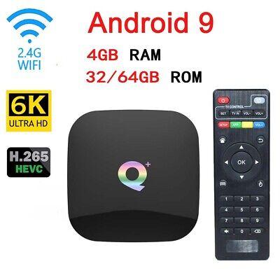 Q Plus Smart TV Box Android9.0 32G 6K H.265 HD 3D Media Player WiFi Set Top Box