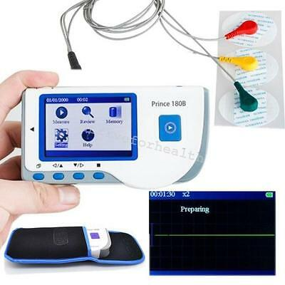 Handheld Cardiac Prince 180b Ecg Ekg Machine Heart Monitor Leadpads Chest Limb