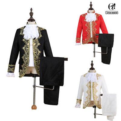 Kid Royal King Prince Costume Kids Medieval Leader Cosplay Jacket Pant Full Set](Children King Costume)