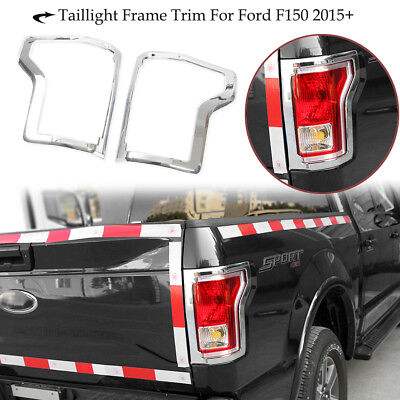 For 2015-17 Ford F150 Rear Truck Tail Light Cover Trim Bezel accessories Chrome for sale  Whippany