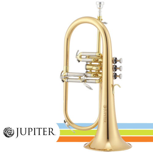 NEW Jupiter JFH1100R Lacquered Brass Body Key of Bb Flugelhorn w/ Hard Case