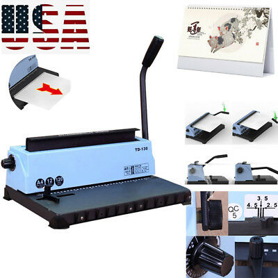 Usa 34holes Steel Metal Spiral Coil 34holes Punching Binding Machine Manual New