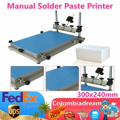 Manual Solder Paste Printer Pcb Smt Stencil Printer S Size Platform 300x240mm