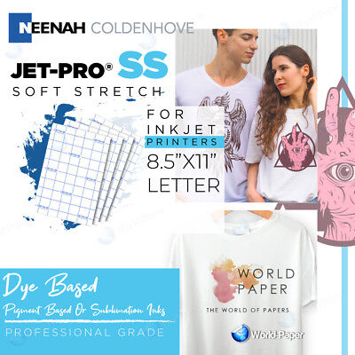 Jet-pro Soft Stretch Inkjet Heat Transfer Paper 8.5 X 11 25 Sheets Pack