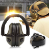 Green slimline electronic shooting ear defenders / Clay pigeon hunting ear muffs