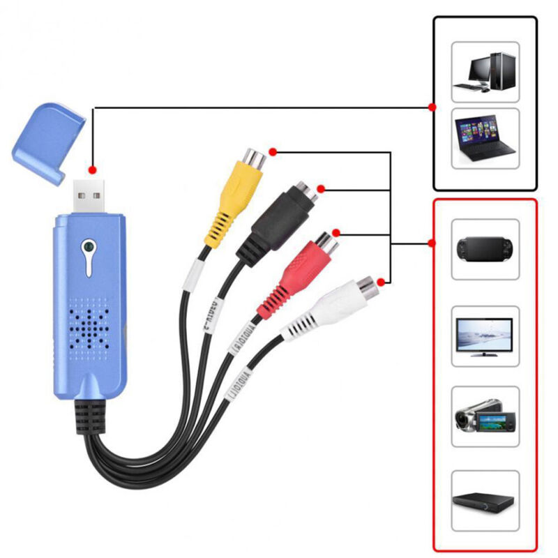 Upgraded Chip NTSC PAL Video Capture Card USB 2.0 TV Tuner A