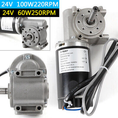 24v 60w100w Automatic Door Dc Worm Gear Motor With Encoder Brushed 220250 Rpm
