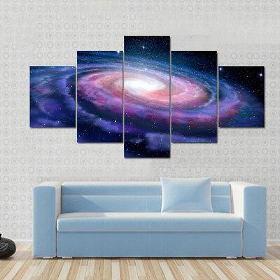 5 Pcs Landscape Milky Way Galaxy Canvas Print Painting Modern Galaxy Wall Art