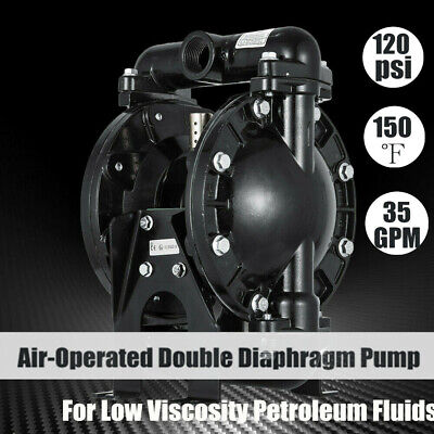 Air-operated Double Diaphragm Pump 35gpm 120psi 1 Inlet Outlet Qby4-25l New
