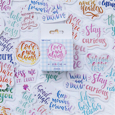 45pcs Colorful Mood Japanese Stationery Stickers for DIY Scrapbooking Diary H721 - Stickers For Scrapbooking