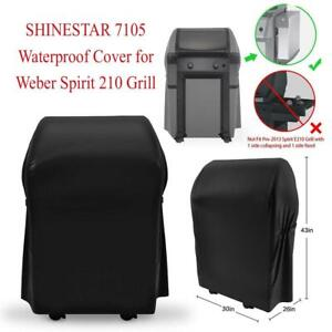 Used  SHINESTAR 7105 Waterproof Cover for Weber Spirit 210 Grill Condition: New,  with Collapsed Side Tables,  (26 x ...