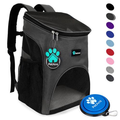 Pet Dog Cat Carrier Backpack Adjustable Shoulder Bag Breathable Mesh Travel Tote