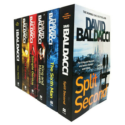 King and Maxwell Series 6 Books Set Collection By David Baldacci, Simple Genius