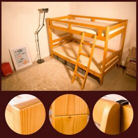 SALE! Bunk Beds Wooden Single White Pine Wood Storage 3ft kids children bed Twin