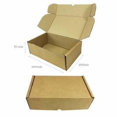 25 x Folding Lid Self Seal Cardboard Postal Boxes 240 x 150 x 80 mm