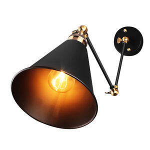 Retro Industrial Adjustable Swing Arm Lamp E27 Wall Mount Light Sconce Fixture