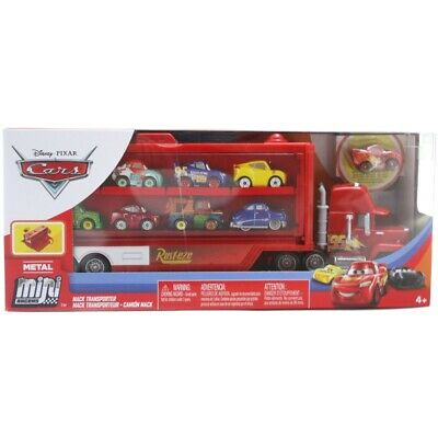 Disney Cars Mini Racers Mack Transporter Ages 4+ Toy Truck Mcqueen Car Race Play