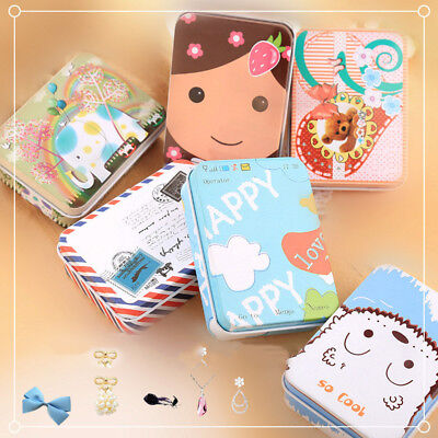 Mini Tin Metal Container Small Rectangle Lovely Pattern Storage Box Case NP2](Metal Containers)
