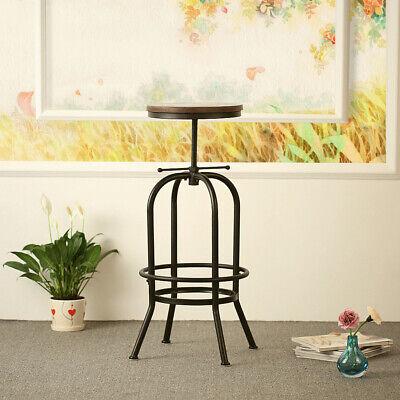 Barstuhl Industrial Barhocker Stuhl HöHenverstellbarer Top Swivel Stuhl E1L3