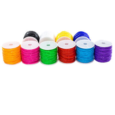 Craft County Plastic Lacing Cord - 10 Pack - Multiple Colors - Plastic Lacing