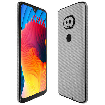 Skinomi Silver Carbon Fiber Skin Cover For T-Mobile REVVLRY 2019  - $15.95