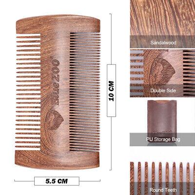 Holzhaarkamm Bartkamm für Männer Bartkamm das Gesichtshaar Holzmassagekamm