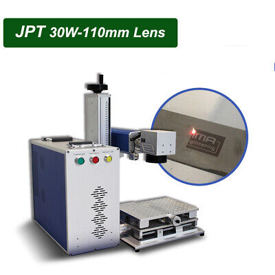 Jpt 30w Fiber Laser Marking Machine 110110mm Engraving Machine 80mm Rotary Axis