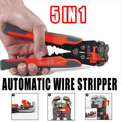 8 Self Adjustable Wire Cutter Crimper Strippers Pliers Terminal Cable Wire Kit