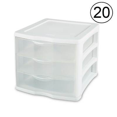 clearview compact portable 3 storage drawer organizer