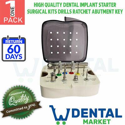 X1 High Quality Dental Implant Starter Surgical Kits Drills Ratchet Abutment Key