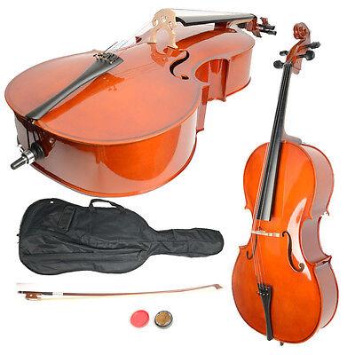 New 4/4 Size Handcrafted Retro Basswood Cello +Bag+ Bow+ Rosin + Bridge