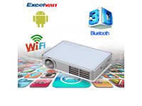 BRAND NEW,,Excelvan LED9 3D Android 4.4 Projector DLP WIFI Wireless Projector 3000 Lumens 1280*800