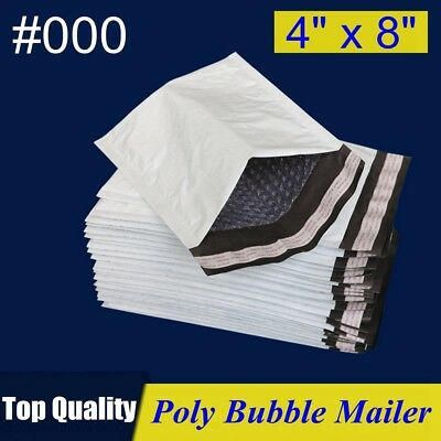 000 4x8 Poly Bubble Mailer Self Padded Envelope Bag 4x8 2550100200500 Pcs