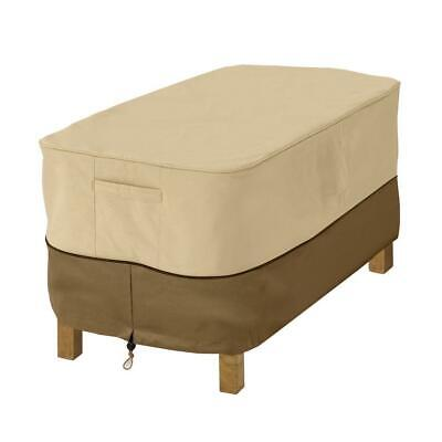 Classic Accessories Veranda Rectangular Patio Ottoman Side Table Cover Large (Classic Accessories New Veranda Patio)