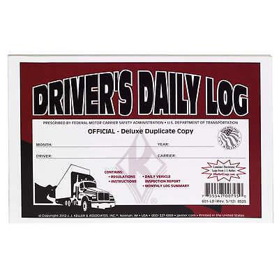 10-PACK JJ Keller Driver's Daily Log Book 601LD/8525 W/DVIR &MONTHLY LOG SUMMARY