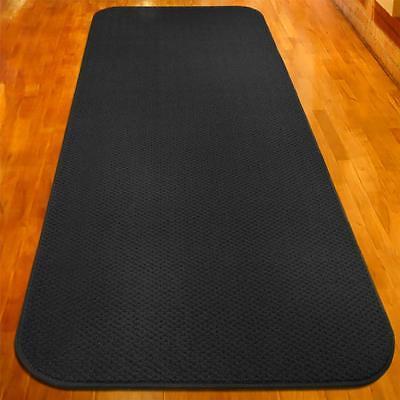 22 ft x 27 in SKID-RESISTANT Carpet Runner BLACK hall area r