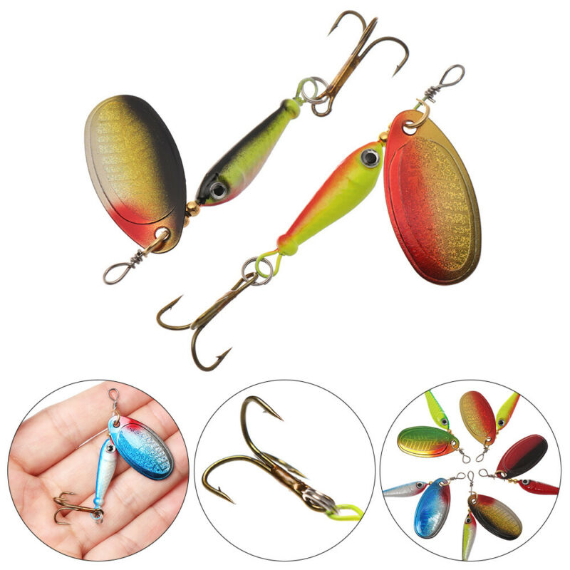 Spinner Tackle Treble Hook VIB Lure Wobblers Crankbaits Metal Fishing Bait