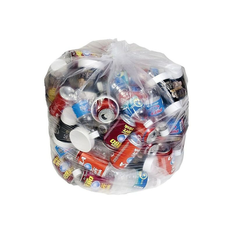 Brighton Trash Bags 40-45 Gallon 40x46 Low Density 1 Mil Clear 100 CT 814857