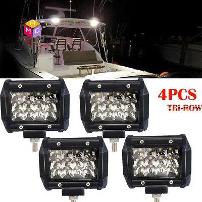 4PCS 4inch Marine Spreader light LED Deck/Mast light for boat 36W Spot BEAM
