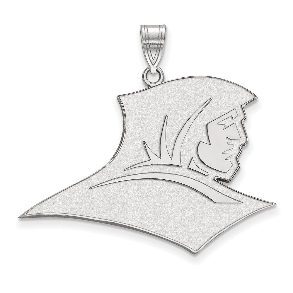 925 Sterling Silver Rhodium-plated Laser-cut Southern Illinois University Small Pendant