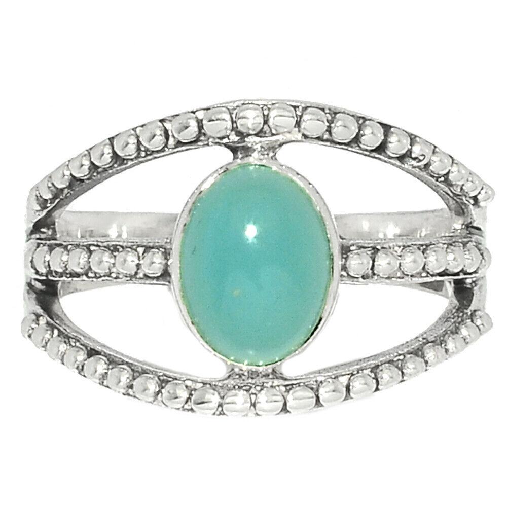 Aquamarine - Brazil 925 Sterling Silver Ring Jewelry S.7 BR40080 252F - $12.99
