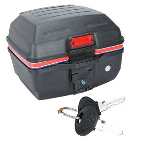 new a06 matte scooter motorcycle luggage trunk top case storage box black ebay. Black Bedroom Furniture Sets. Home Design Ideas